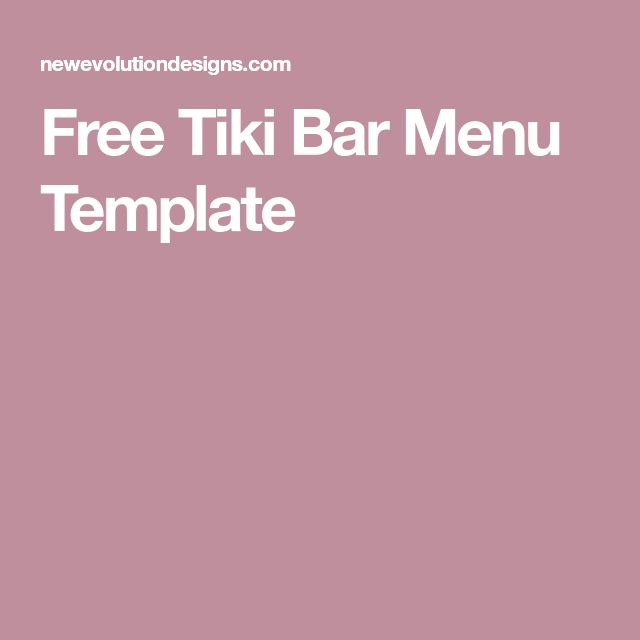 The 25+ best Free menu templates ideas on Pinterest Menu - bar menu template