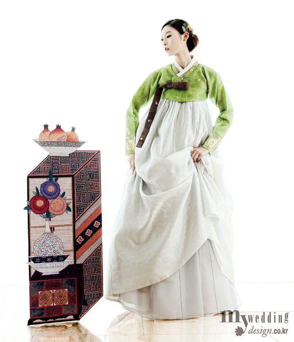 Hanbok, korean traditional clothes / My wedding / 가을 정취를 담은 한복 / 바이단