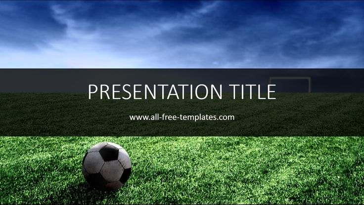 Best PowerPoint Templates Images On Pinterest Business Cards - Luxury football ppt template concept