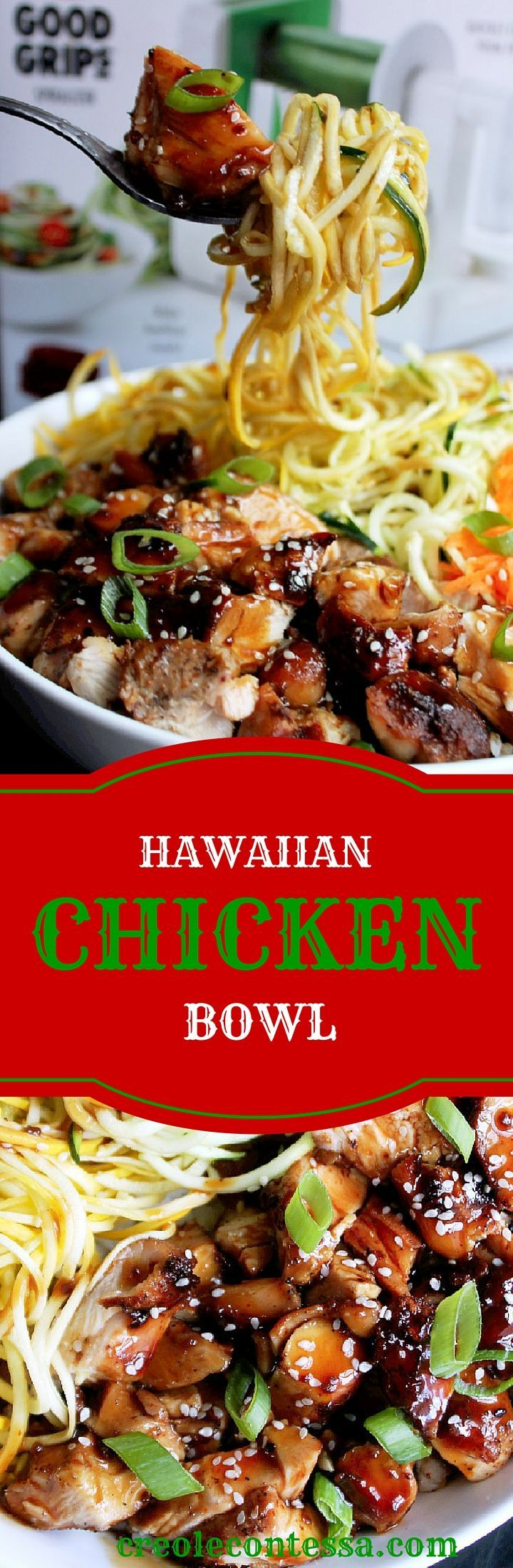 Hawaiian Chicken Bowl-Creole Contessa                                                                                                                                                                                 More