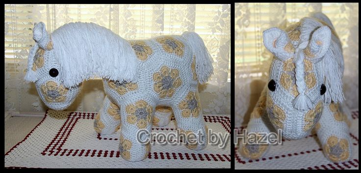 FOR SALE: A cute little horse of course. She is 13.5 inches high and 44 inches in length. A lot of work in this one. Please feel free to contact me if you are interested or have a question about her.. Thank you.She is made from Patons Big Baby 8ply yarn. If you are interested I'll work out a postage for you, or you may pick up yourself. The postage is just an estimate in the postage area because I'm not sure what it would be. At Southport Gold Coast. QLD