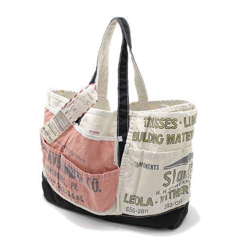 DENIM DUNGAREE(デニム&ダンガリー):エプロンリメイクMOM BAG 2BK黒 の通販【ブランド子供服のミリバール】