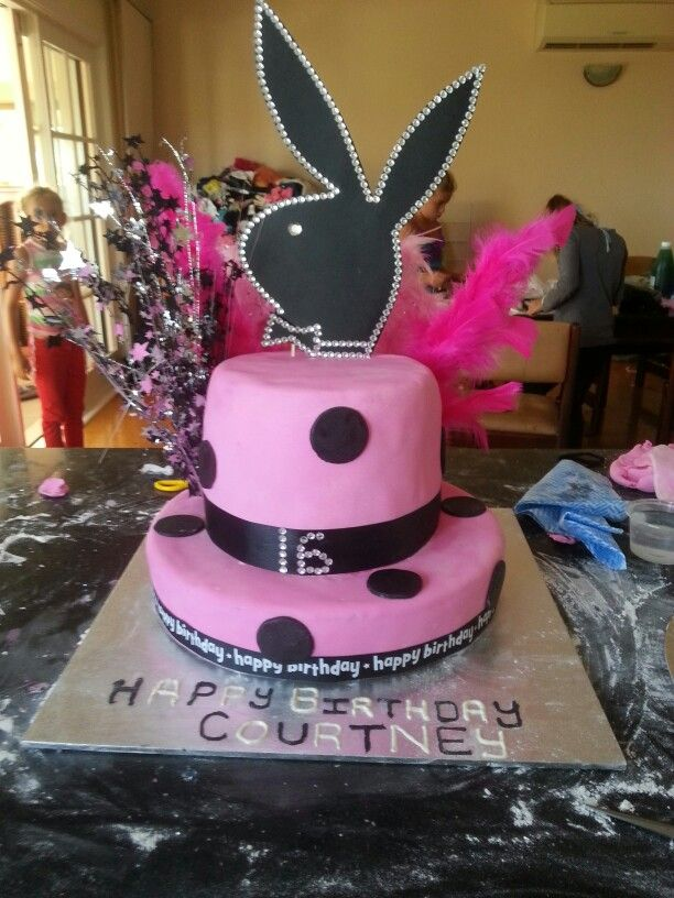 Courtney 16th cake made by mi sister :-)