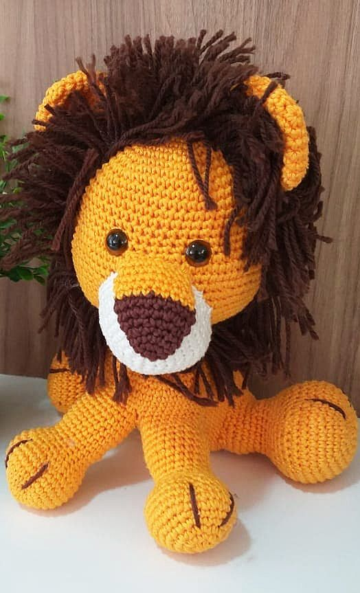 Lovely Amigurumi Doll, Animal, Plant, Cake and Ornaments Pattern Ideas. Page 125. Crochet Lion Toy
