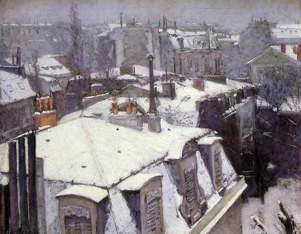 Caillebotte-Toits sous la neige 1878