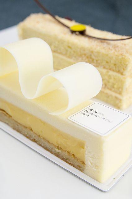 Pâtisserie Sadaharu Aoki - chocolat blanc et fruit de la passion #Edendiam love's
