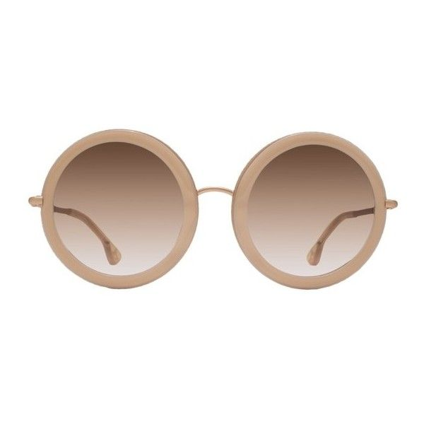 Alice + Olivia Beverly ($295) ❤ liked on Polyvore featuring accessories, eyewear, sunglasses, blush, rimmed glasses, thick glasses, lens glasses, thick rimmed glasses and gradient lens sunglasses