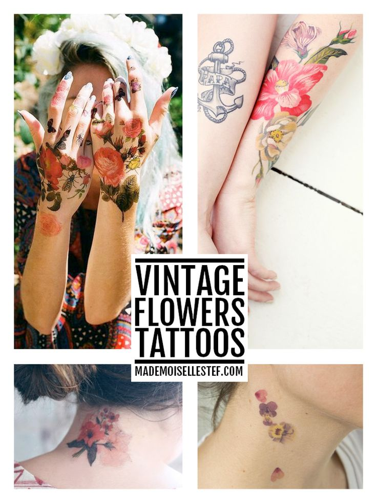 Mademoiselle Stef - Blog Mode, Dessin, Paris | Tattoo Ideas vintage flowers
