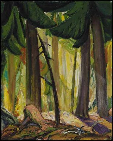 Shafts of Light in the BC Forest by Arthur Lismer