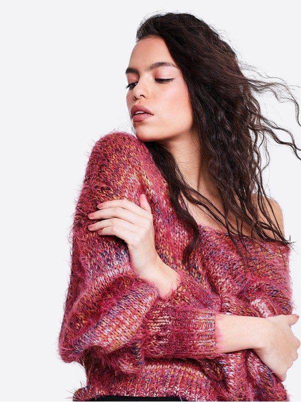 Karoline strikket genser | | Multi | BikBok | Norge