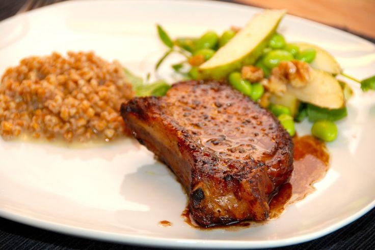 Skaftkoteletter i fad med balsamicosky (koteletter i ovn) - Madens Verden