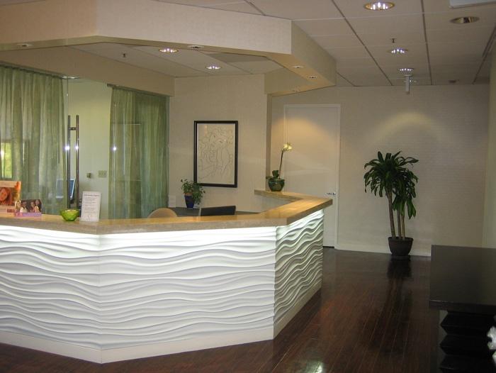 Illuminated White Panels Front Desk Nurses Station