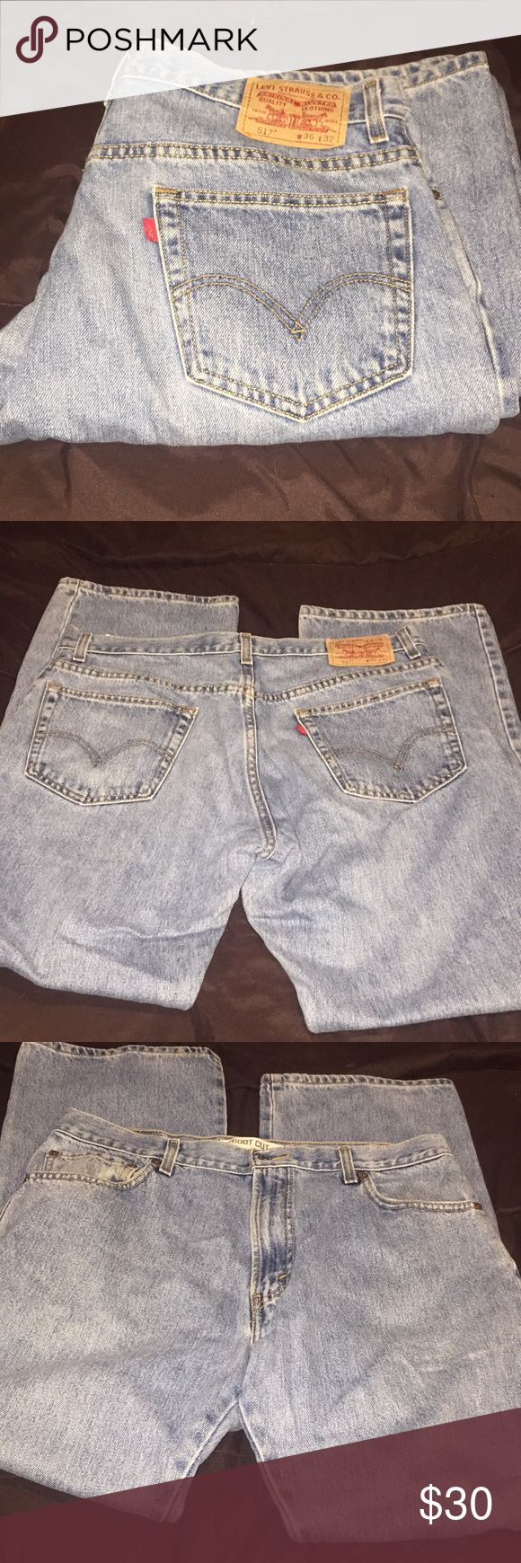 Men's Levi jeans-Vintage  517 Vintage, lighter wash Levi's jeans for men. They are size 36x32, bootcut style and 517.    ❤️Be sure to check out my other listings! I bundle and have weekly Flash Sales that you won't want to miss! 2+ bundles items = extra discounts! Don't forget to follow me! New stuff added regularly! Levi's Jeans Bootcut