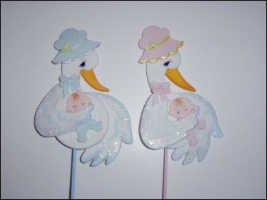Stork Baby Shower Mommy Stork Baby Shower by PartyFavorsMiami