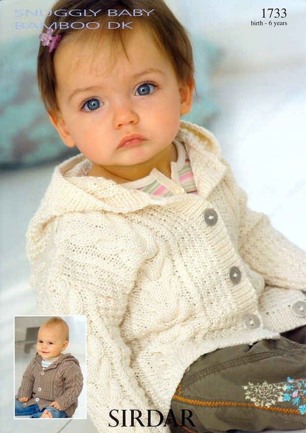 Coat with Hood in Sirdar Snuggly Baby Bamboo - 1733 | knitting ...