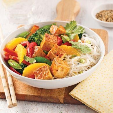Sauté de tofu teriyaki à l'orange - Soupers de semaine - Recettes 5-15 - Recettes express 5/15 - Pratico Pratique