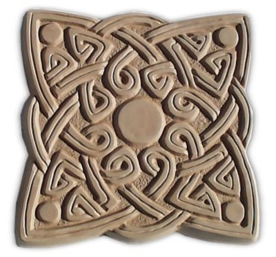 Garden Molds - Celtic Square Stepping Stone Mold, $24.95 (http://www.gardenmolds.com/celtic-square-stepping-stone-mold/)