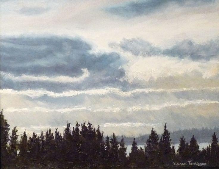 Waves of Glory original oil on canvas wrap 11x13. Karen Tomlinson