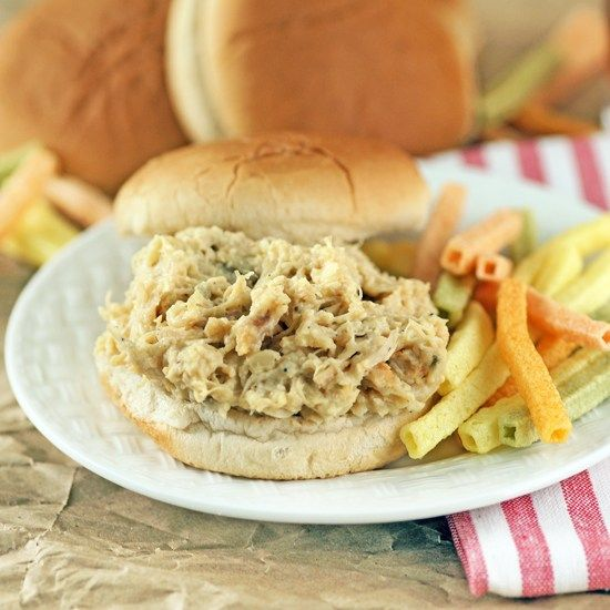 The Best Recipe for Hot Shredded Chicken Sandwiches a Crock Pot Friendly, Easy to Make. Great for parties, tailgating and group events.