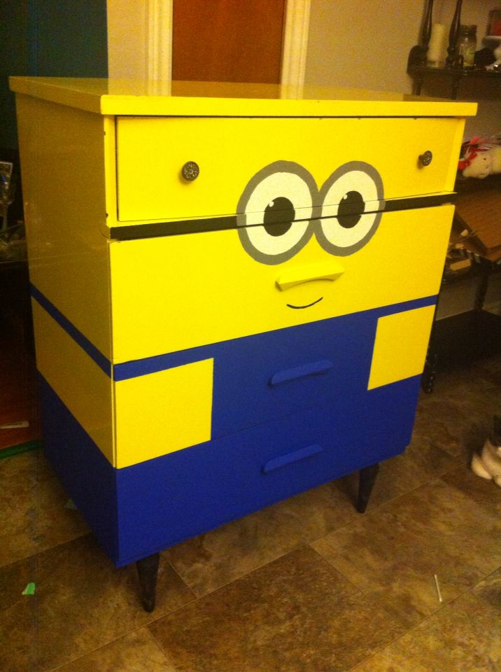 Minion dresser decorating ideas home pinterest best for Funky bedroom furniture