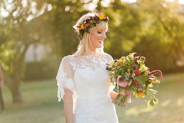 { Naomi Rose Floral Design } Boho wedding | Sheehan Studios Photography | Wedding | Tipi wedding | Flower crown | Boho bouquet | Bright flowers |