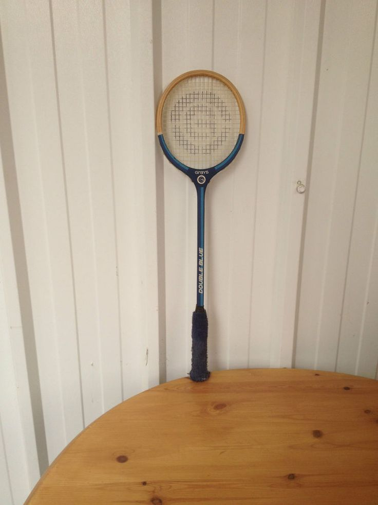 Vintage Grays Double Blue Squash Racket - fabulous wall art or frames in Sporting Goods, Squash, Rackets | eBay