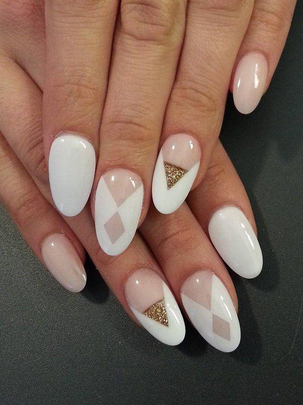Mehr als Mandelnageldesigns #Acryl #Nagel #Hochzeit #Einfach #Glitter – Nagel Ku… Mehr als Mandelnageldesigns <a class=