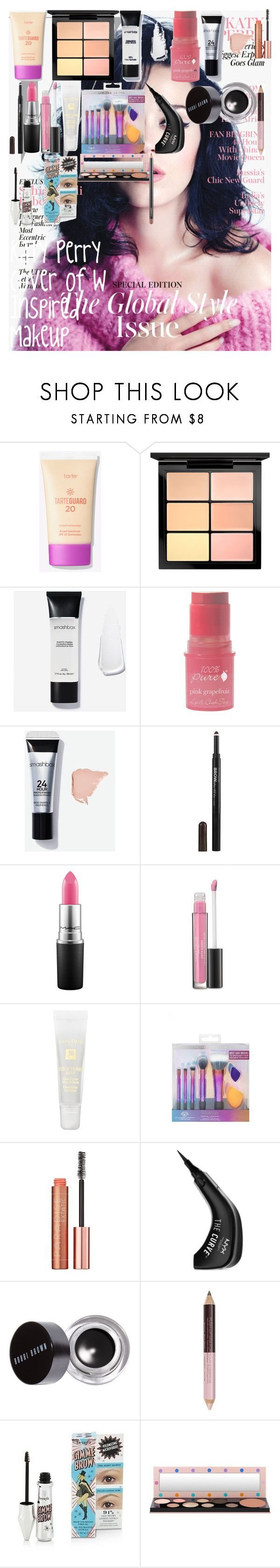 """Katy Perry Cover of W Inspired Makeup"" by oroartyellie on Polyvore featuring beauty, MAC Cosmetics, 100% Pure, Maybelline, Laura Geller, Lancôme, L'Oréal Paris, NYX and Bobbi Brown Cosmetics"