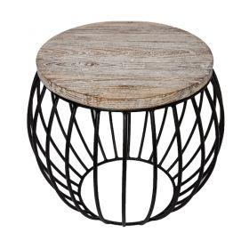 Round Side Table | Teak Matte Black | Bellagio Interiors & Furnishings