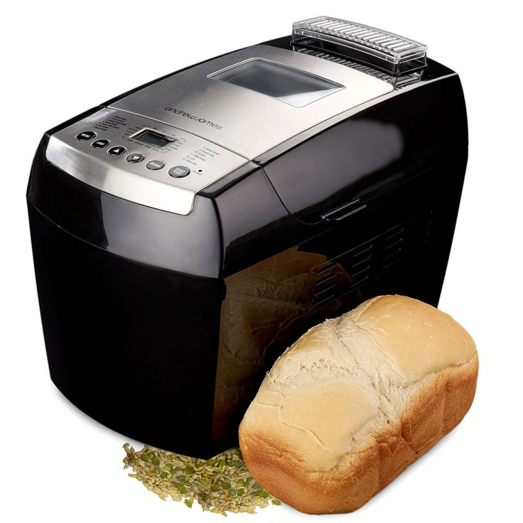 A bread maker with timer is used to bake bread and it can be used to bake bread of different shapes and types.