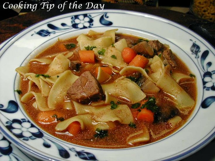 Cooking Tip of the Day: Crock Pot Beef Noodle Soup
