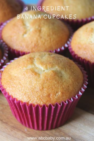 4 Ingredient Banana Cupcakes! - ABC Blog - Australian Baby Card