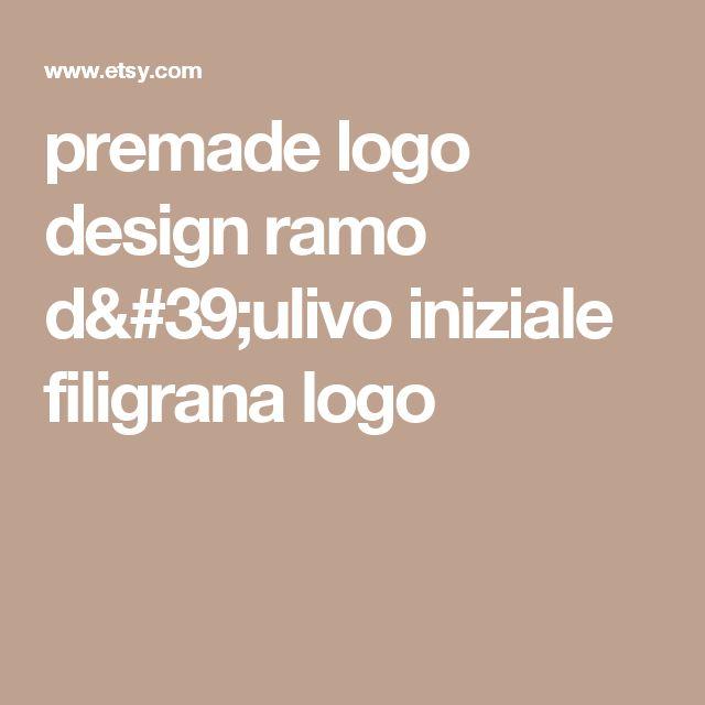 premade logo design  ramo d'ulivo iniziale  filigrana logo