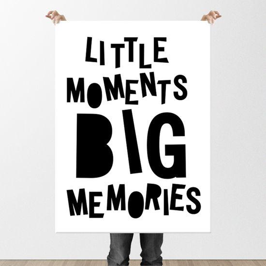 Poster με Αγγλικό κείμενο. Όμορφες φράσεις θα πλαισιώσουν το παιδικό δωμάτιο. #paidikesafises #postersforkids #littlemomentsbigmemories #μικρέςστιγμέςμεγάλεςαναμνήσεις