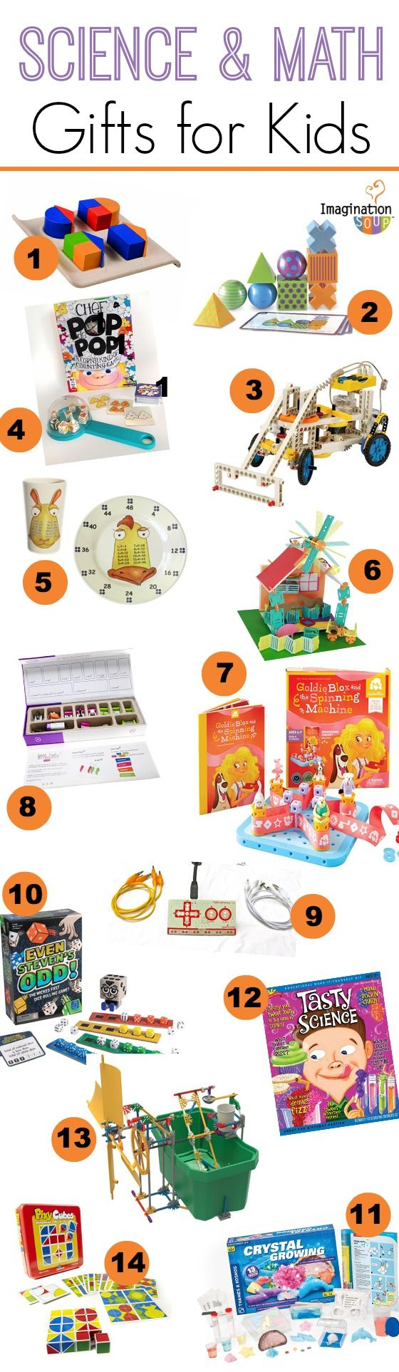 awesome gift ideas for kids who love math and science!