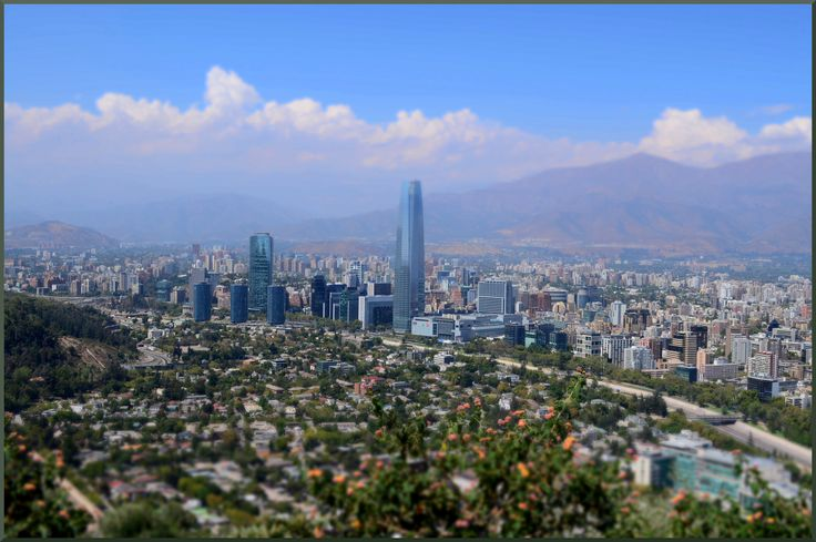 Santiago de Chile, picture taken from the top of Cerro San Cristobal