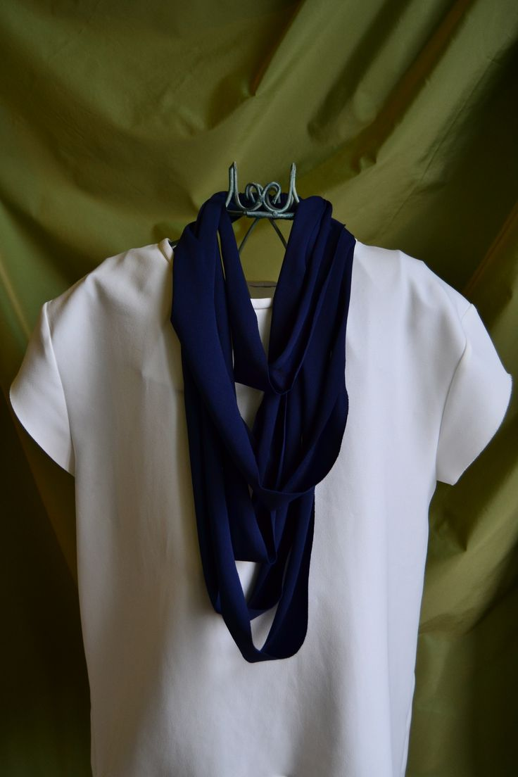handmade necklaces (blue jersey)