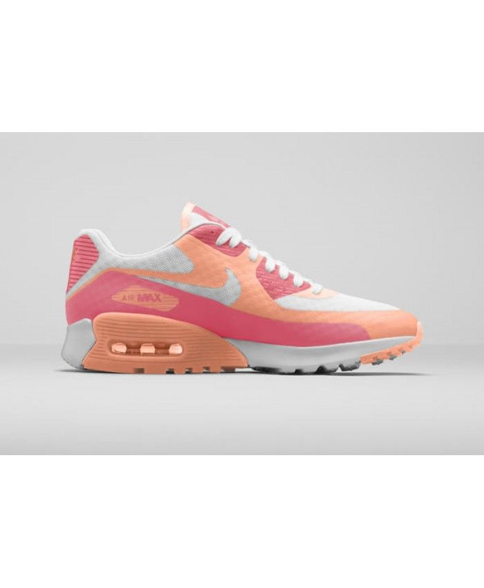 Nike Air Max 90 Ultra Breathe Pink Orange White Shoes Sale