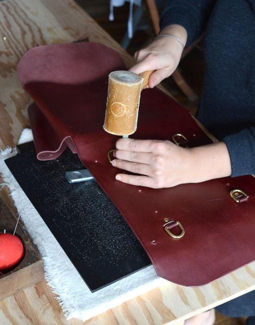oxblood mini backpack - no stitching