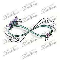 "Would love this on my ankle with the word ""Believe"" in the middle...Maybe someday... Marketplace Tattoo Butterfly swirl Infinity tattoo #14426 