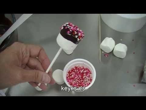 ▶ Como hacer piruletas de nubes-How to make marshmallows lollipops - YouTube
