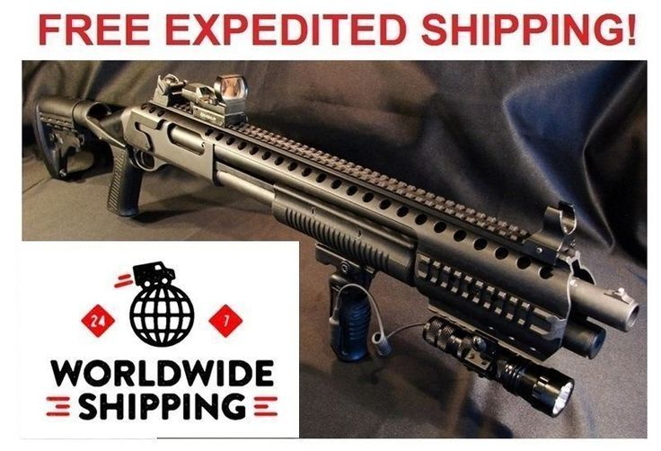 Shotgun 73954: New Black Aces Tactical Remington 870 1100 Tactical Picatinny Quad Rail Rb7r BUY IT NOW ONLY: $129.0