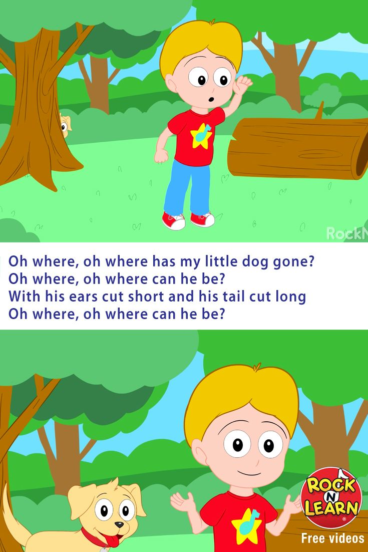 Where Has My Little Dog Gone By Rock N Learn Is A Free Video Nursery Rhyme That Kids Love To Signing Along It S Fun Spot The Poppin
