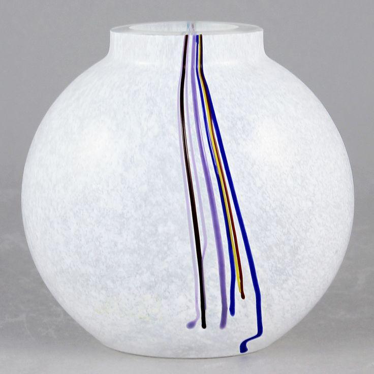 Bertil Vallien (Rainbow 1980s) Swelling Glass Vase
