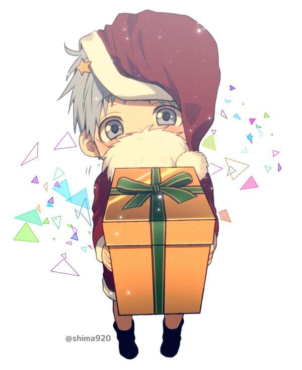 Kuroko Tetsuya - Mery X-mass and Happy New Year! ♥ 2o16 #knb #Kuroko_Tetsuya