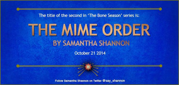 The Mime Order by Samantha Shannon (Bone Season # 2)