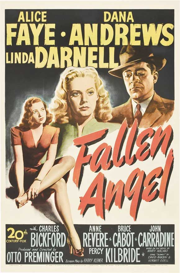 fallen angel movie poster | Movie Posters Television (TV) Posters Broadway Posters Pulp Posters ...