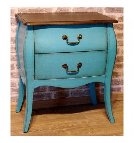 MELLOW commode, 2 tiroirs,  turquoise
