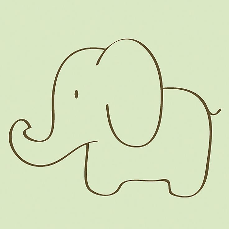 easy elephant drawing things to draw elephant sketch drawings elephant. Black Bedroom Furniture Sets. Home Design Ideas