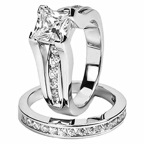 ELOI 925 Sterling Silver Rings for Women 1.5 CT Wedding Rings Bridal Sets Anniversary CZ Engagement Ring